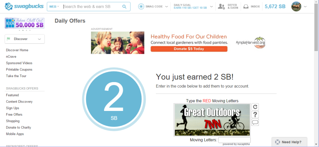 Claim 2 Swagbucks Daily Offer